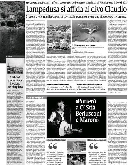 Lampedusa si affida al divo claudio - Il divo claudio ...