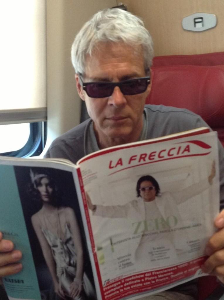 Claudio Baglioni in treno