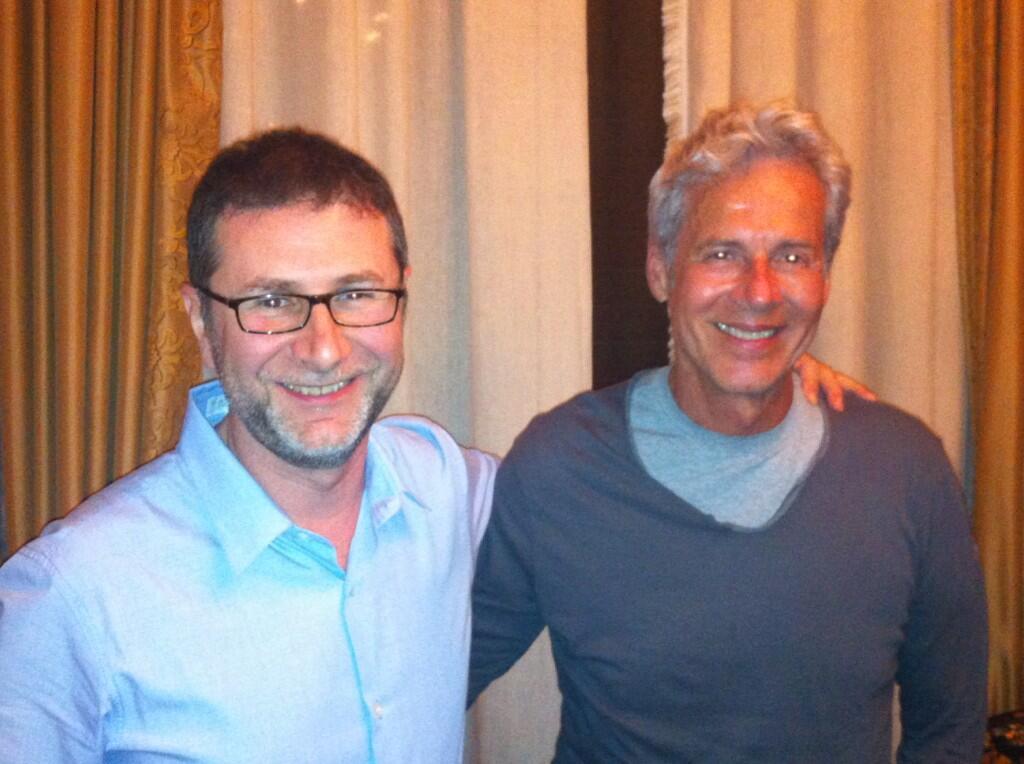 Fabio Fazio e Claudio Baglioni