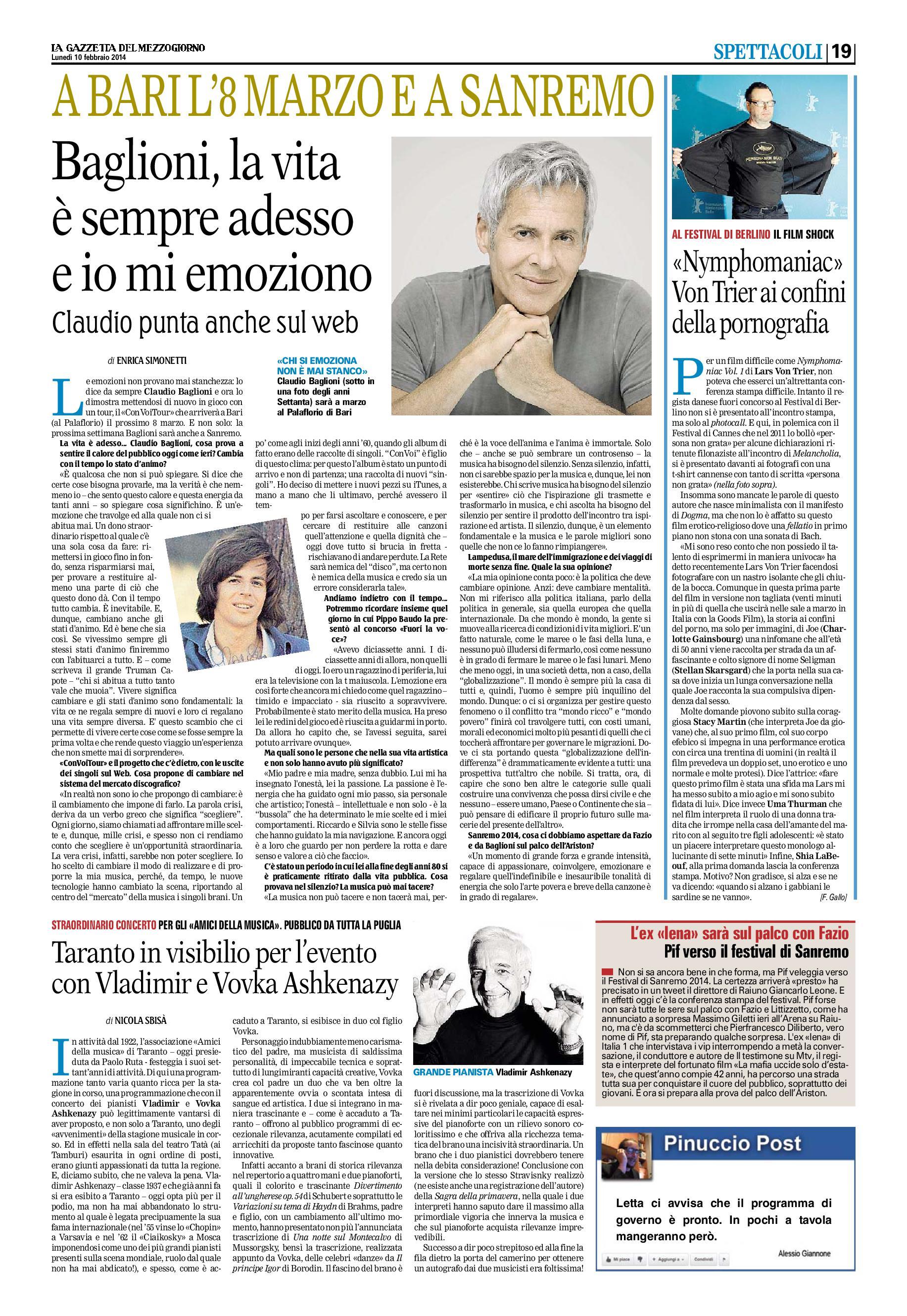 LA GAZZETTA DEL MEZZOGIORNO - 10 FEBBRAIO-001