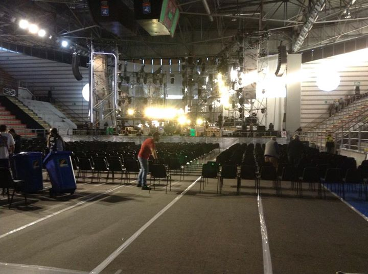 20 Novembre 2014 Claudio Baglioni a Taranto cantiere pronto