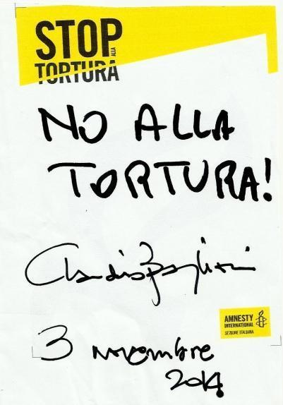 3 Novembre 2014 Messaggio Claudio Baglioni per Amnesty