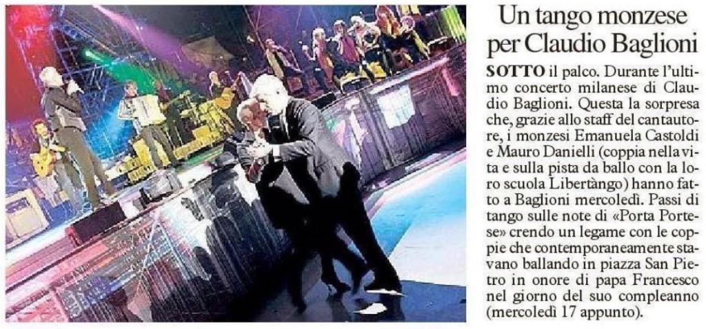 Un tango per Claudio Baglioni - Milano 17 Dicembre 2014