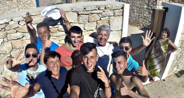 baglioni morandi selfie a lampedusa