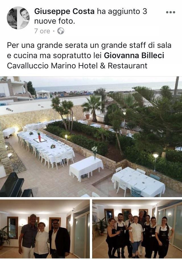 A Cena Con Claudio Baglioni Al Cavalluccio Marino
