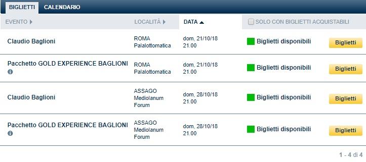 Calendario Forum Assago.Apertura Vendite Clab Terze Date Roma E Milano Doremifasol Org