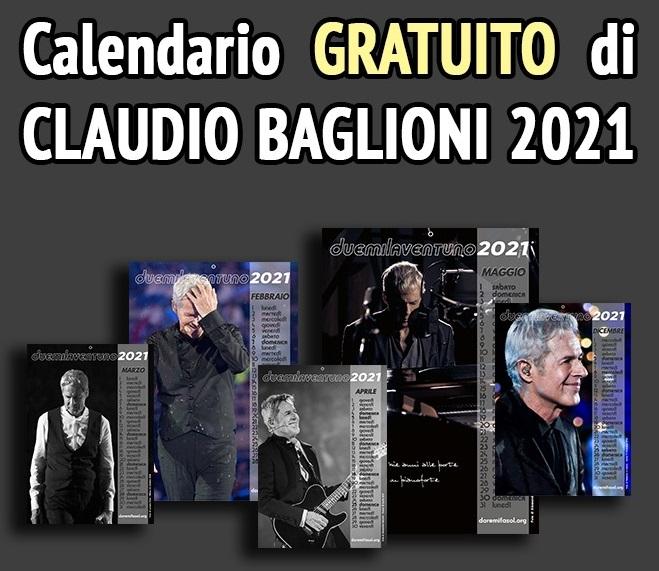 Calendario GRATUITO Claudio Baglioni 2021